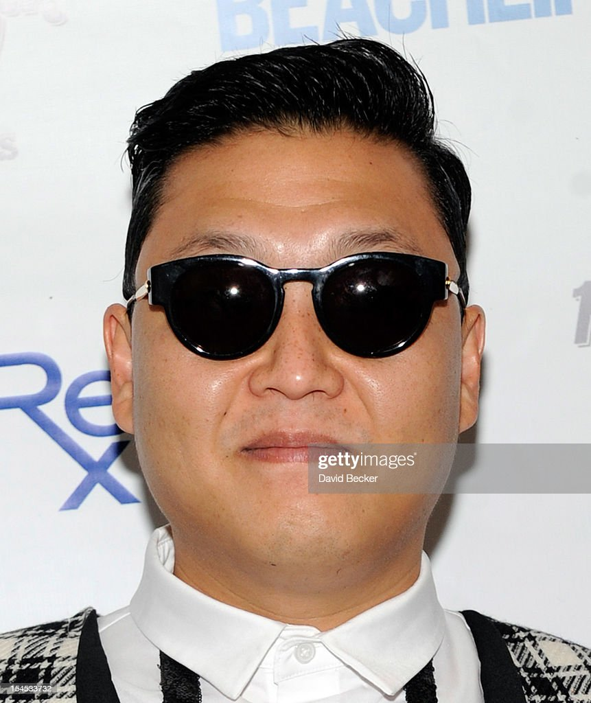 <a gi-track='captionPersonalityLinkClicked' href=/galleries/search?phrase=Psy+-+Artist&family=editorial&specificpeople=9699998 ng-click='$event.stopPropagation()'>Psy</a> arrives to perform at the Hard Rock Hotel & Casino during Rehab, the resort's weekly pool party, on October 21, 2012 in Las Vegas, Nevada.