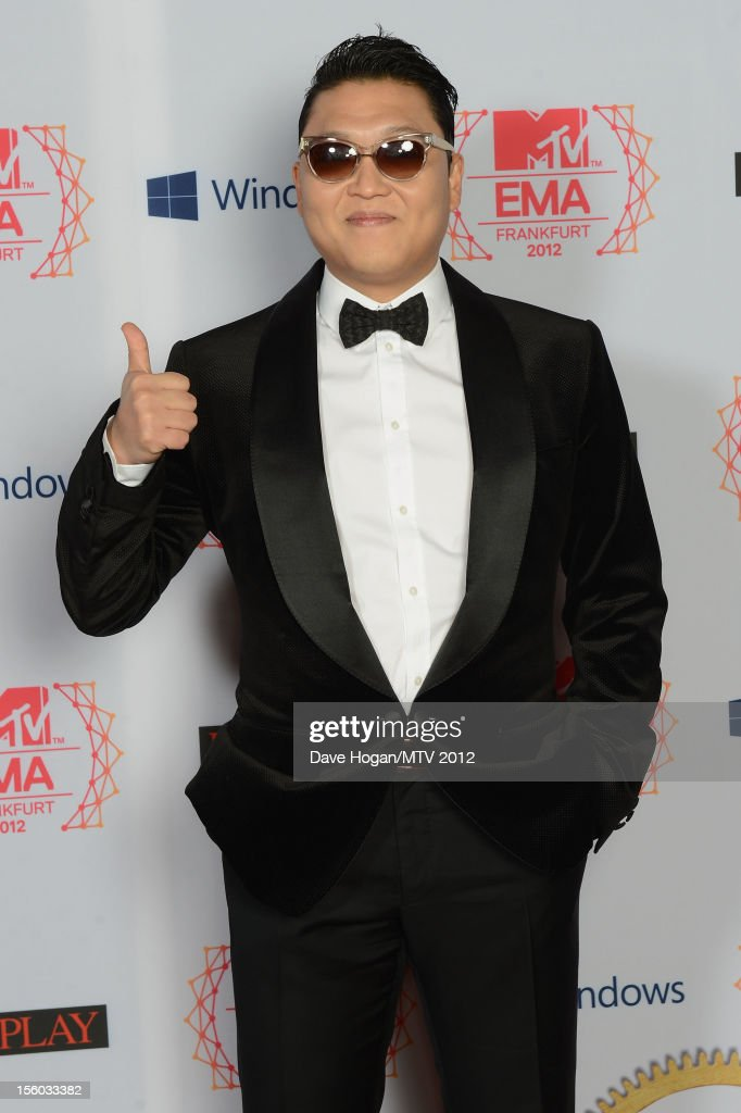 Psy attends the MTV EMA's 2012 at Festhalle Frankfurt on November 11, 2012 in Frankfurt am Main, Germany.