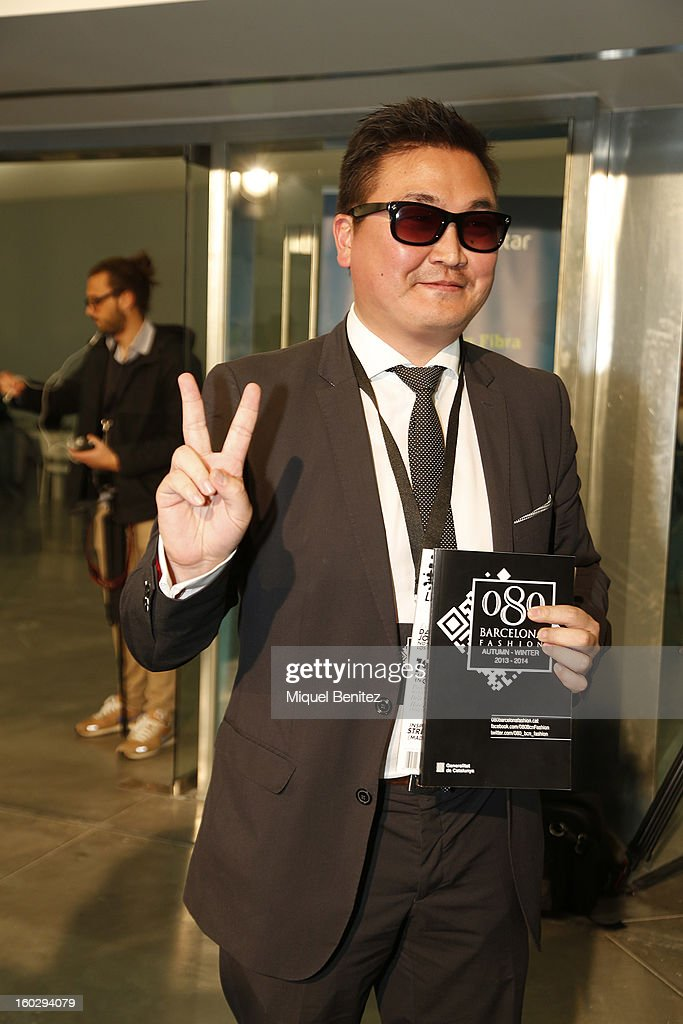 Psy attends the photocall at the Mango fashion show as part of the 080 Barcelona Fashion Week Autumn/Winter 2013-2014 on January 28, 2013 in Barcelona, Spain.