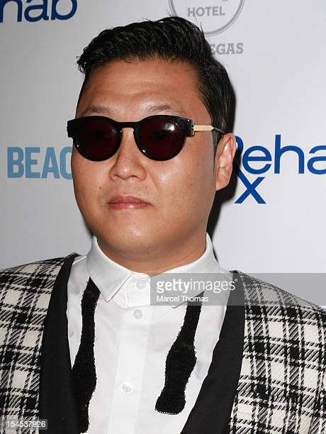 Psy performs at Rehab's final Party Of The Year at Hard Rock Hotel and Casino on October 21 2012 in Las Vegas Nevada