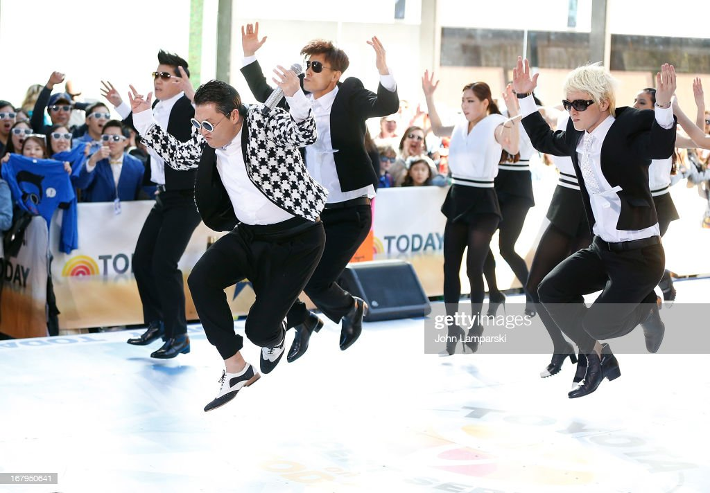 Psy performs on NBC's 'Today Show' at TODAY Plaza on May 3, 2013 in New York City.