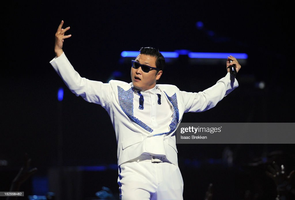 <a gi-track='captionPersonalityLinkClicked' href=/galleries/search?phrase=Psy+-+Artista&family=editorial&specificpeople=9699998 ng-click='$event.stopPropagation()'>Psy</a> performs onstage during the 2012 iHeartRadio Music Festival at the MGM Grand Garden Arena on September 21, 2012 in Las Vegas, Nevada.