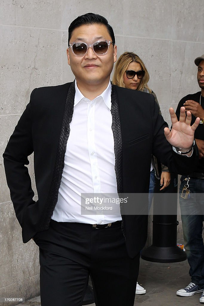 Psy seen at BBC Radio One on June 10, 2013 in London, England.