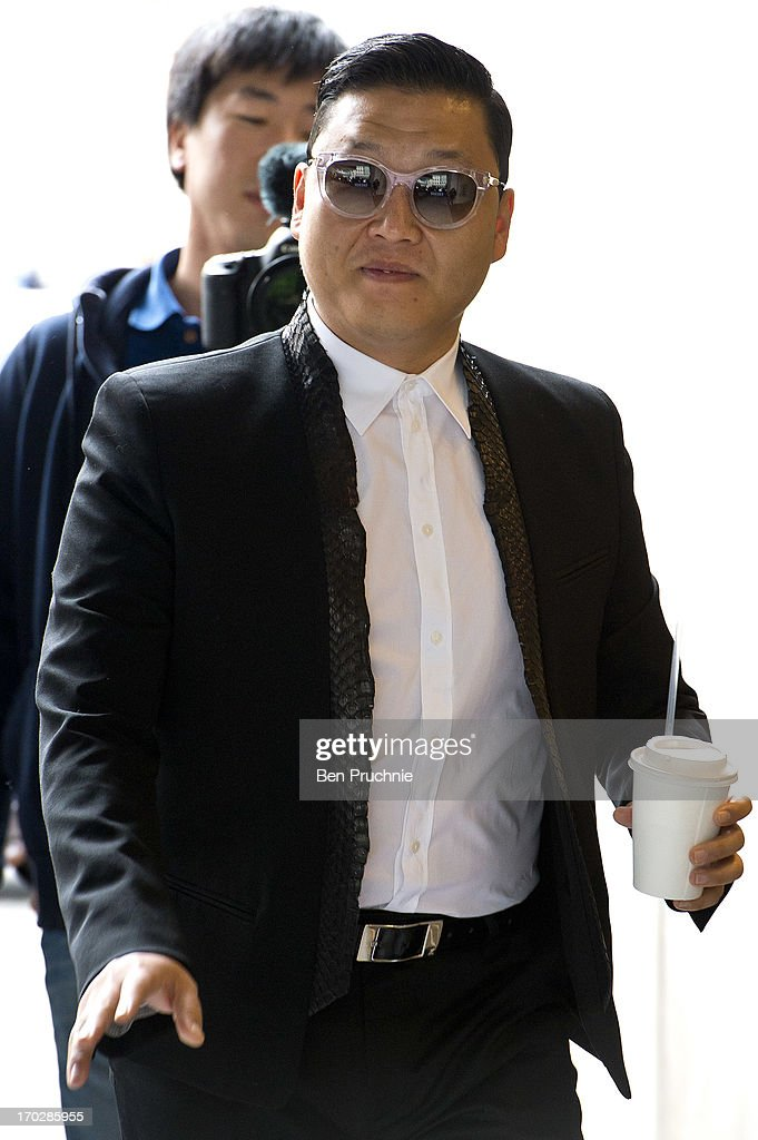 Psy (Born Park Jae-sang) sighted at BBC Radio Studios on June 10, 2013 in London, England.