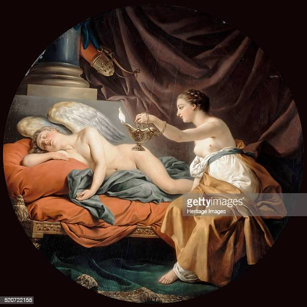 Psyche Surprising Sleeping Cupid Found in the collection of Louvre Paris