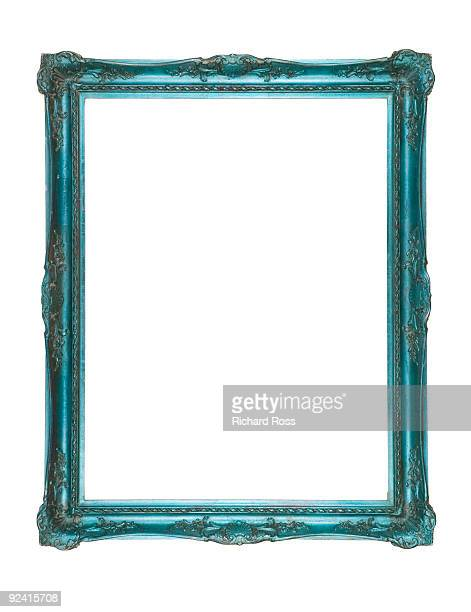 A Psychedelic Blue-Green Frame