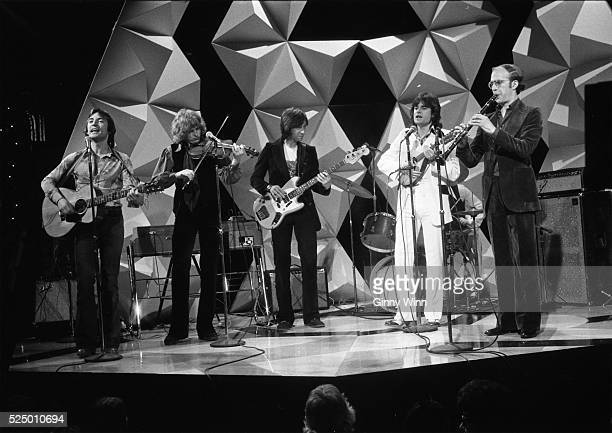 Psychedelic folk rock band The Incredible String Band in perfomance on concert stage 1973 in Los Angeles California