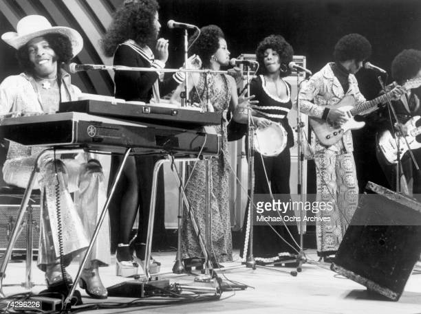 Psychedelic soul group 'Sly The Family Stone' perform on the TV show 'Wide World In Concert' on December 6 1974