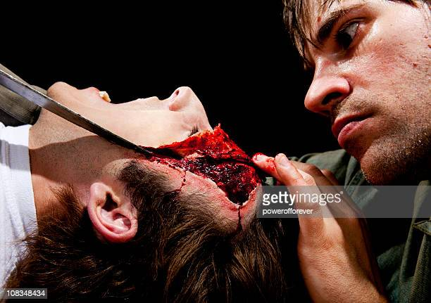 Psycho Killer Cutting Victims Face off