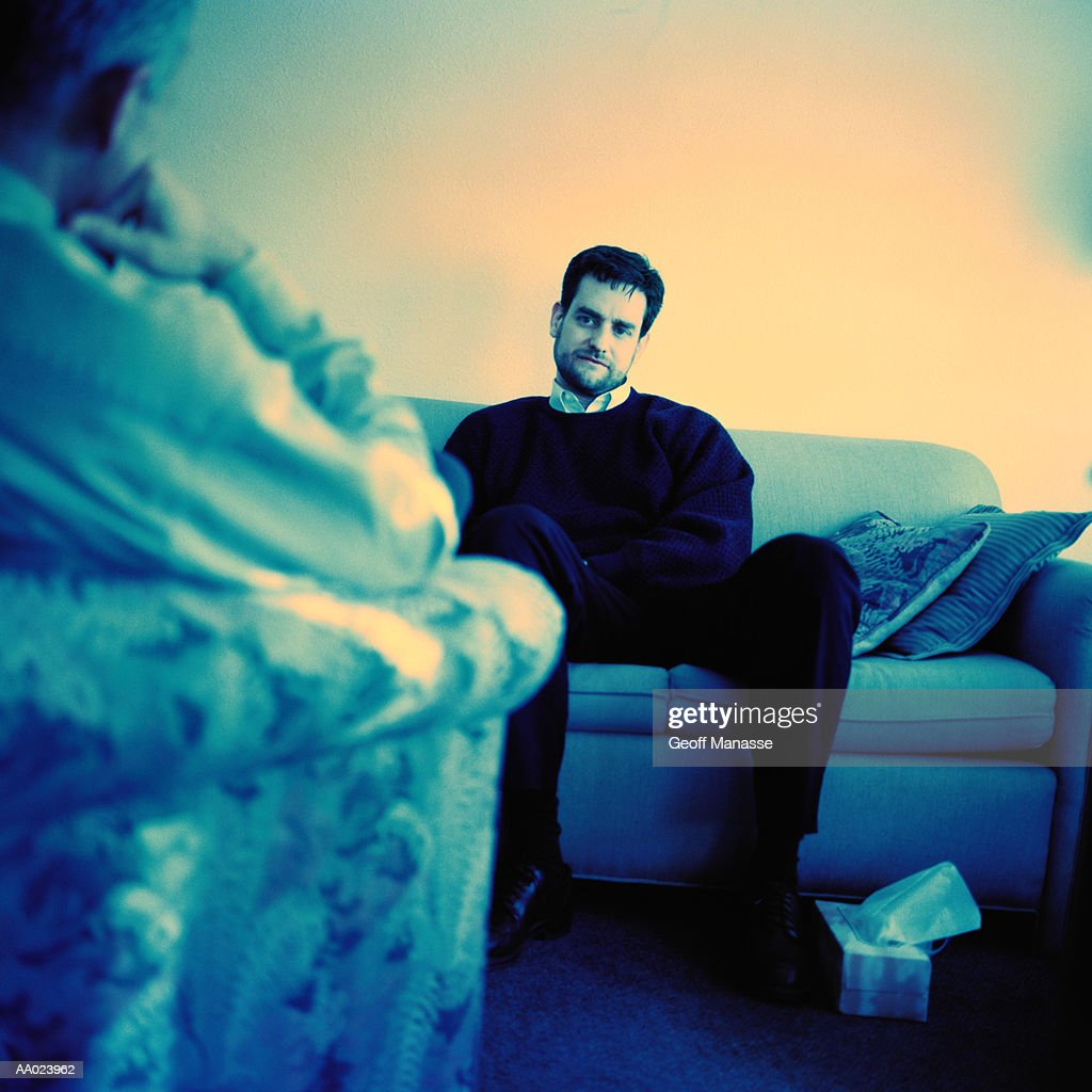 Psychologist and Patient in a Therapy Session : Stock Photo