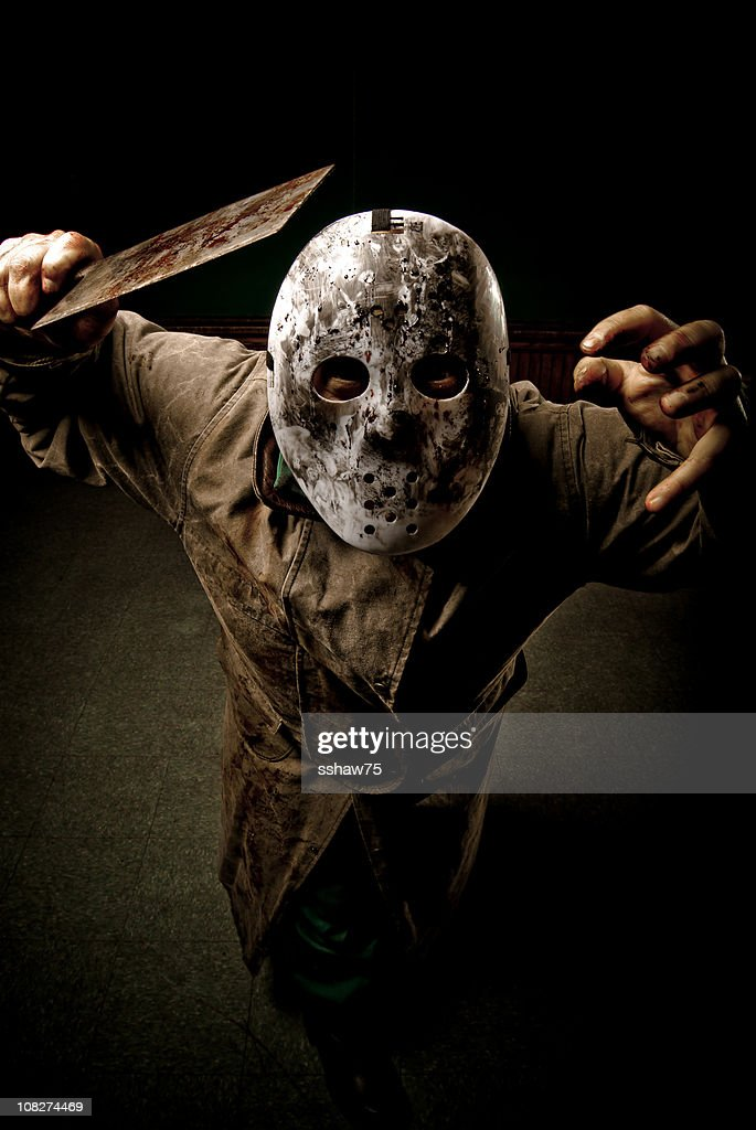 Psychotic Character With Cleaver : Stock Photo