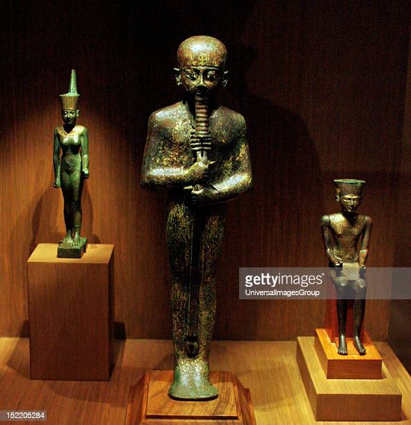 Ptah 3rd Interim Period Dynasties 2124 Bronze gilding glass inlay