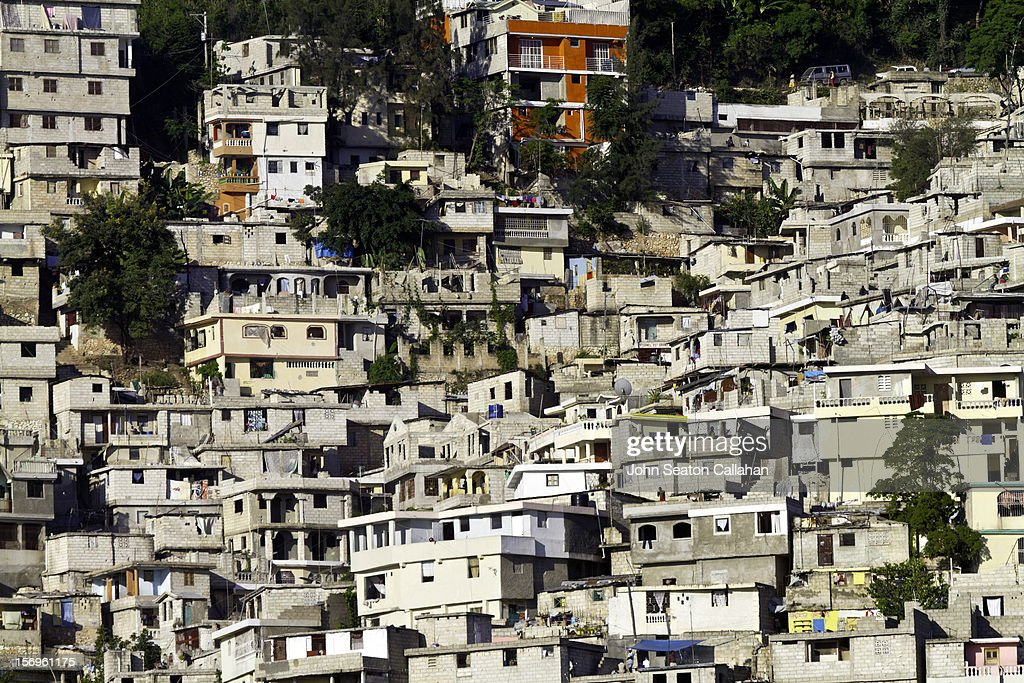 Pétionville, informal settlement on hillside.
