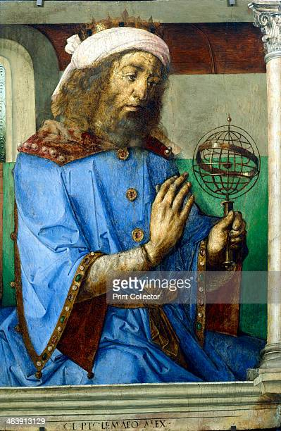 Ptolemy Alexandrian Greek astronomer and geographer late 15th century Ptolemy holding an armillary sphere He is incorrectly shown wearing a crown as...