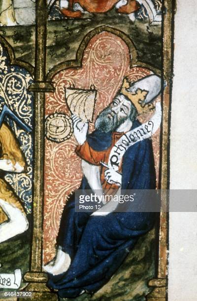Ptolemy Alexandrian Greek astronomer and geographer making observations using a quadrant Wrongly depicted as a king Photo12/UIG via Getty Images