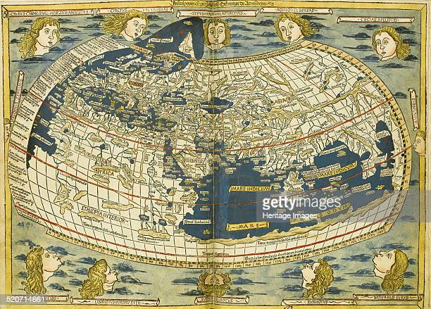 Ptolemy World map Private Collection