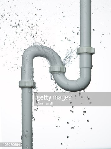 Leaking pipe stock photos and pictures getty images for Bathroom p trap leak