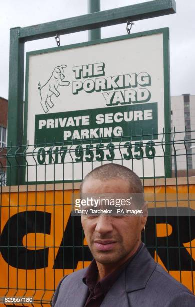 Pub landlord Leroy Trought 42 in front of the sign in the pub car park in the St Judes area of Bristol that led him to be subject to an AntiSocial...