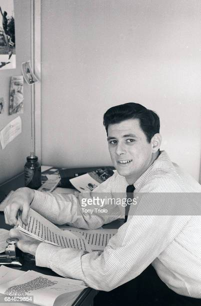 Portrait of Sports Illustrated writer Frank Deford in his office at Time Life Building New York NY CREDIT Tony Triolo