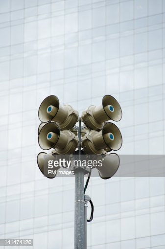 Public Address Speakers : Foto de stock