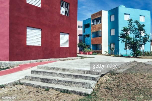 public apartment buildings, Santiago de Cuba