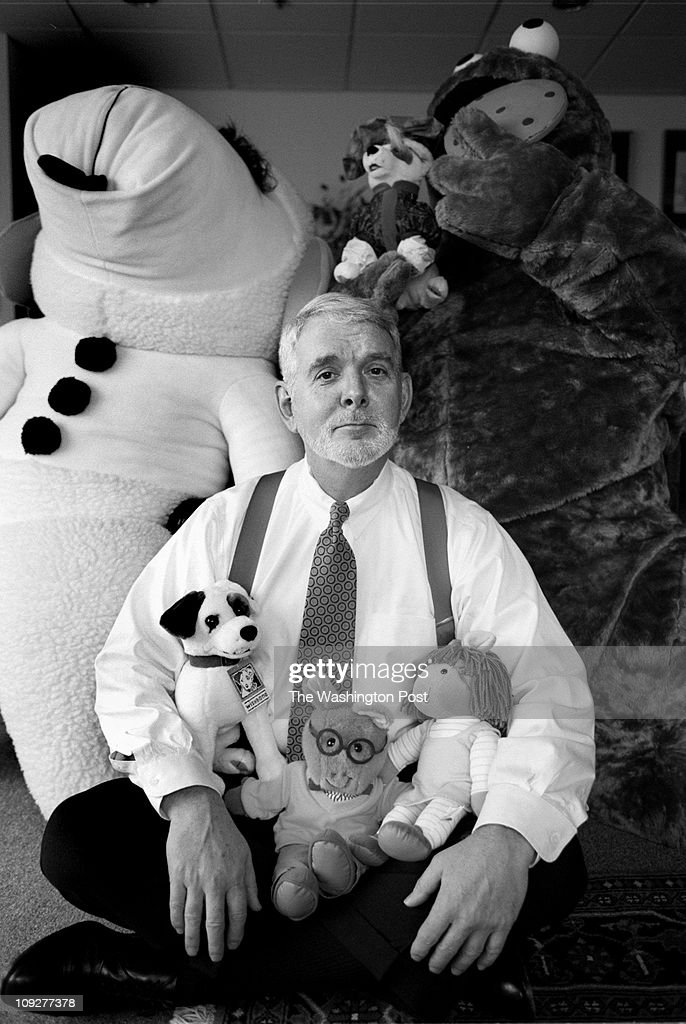 12/11/97 Public Broadcasting System CEO and President Ervin Duggan at PBS headquarters in Alexandria Duggan in his office with various PBS characters...