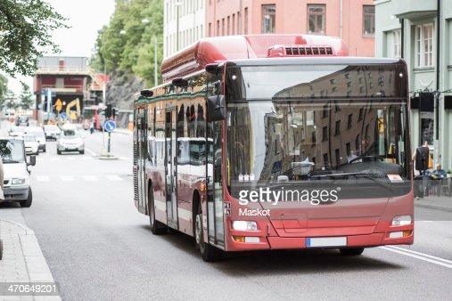 Public bus on street