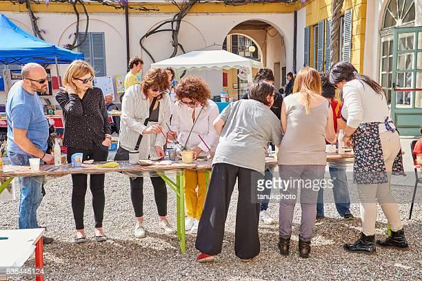 Public Demonstration of Ceramic Making