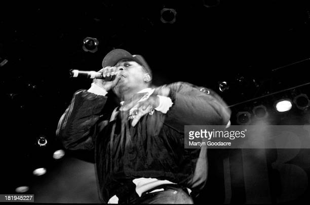Public Enemy perform on stage at Docklands Arena London 3rd November 1990