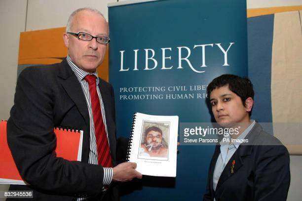 Public Interest lawyer Phil Shiner and Liberty director Shami Chakrabarti attend a London press conference hosted by human rights group Liberty to...