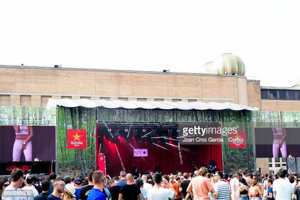 Public listening a DJ during the first day of Sonar Music Festival on June 15 2017 in Barcelona Spain