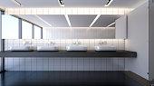Modern bathroom with basins