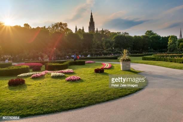 Public park (Volksgarten) in Vienna, Austria