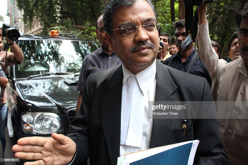 Public Prosecutor in 1993 Mumbai blast case Ujwal Nikam arrives at TADA Session Court on May 16, 2013 in Mumbai, India. Five convicts including Bollywood actor Sanjay Dutt surrendered before a designated TADA court which took them into custody to serve their remaining sentence.