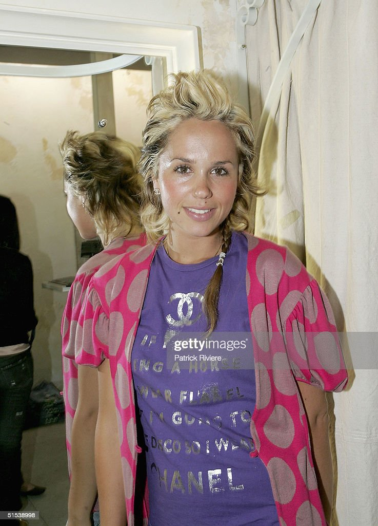 Public Relation Pip Edwards attends the opening of Tsubi first shop 'City Of The Dead' in Bondi Beach on October 22 2004 in Sydney Australia