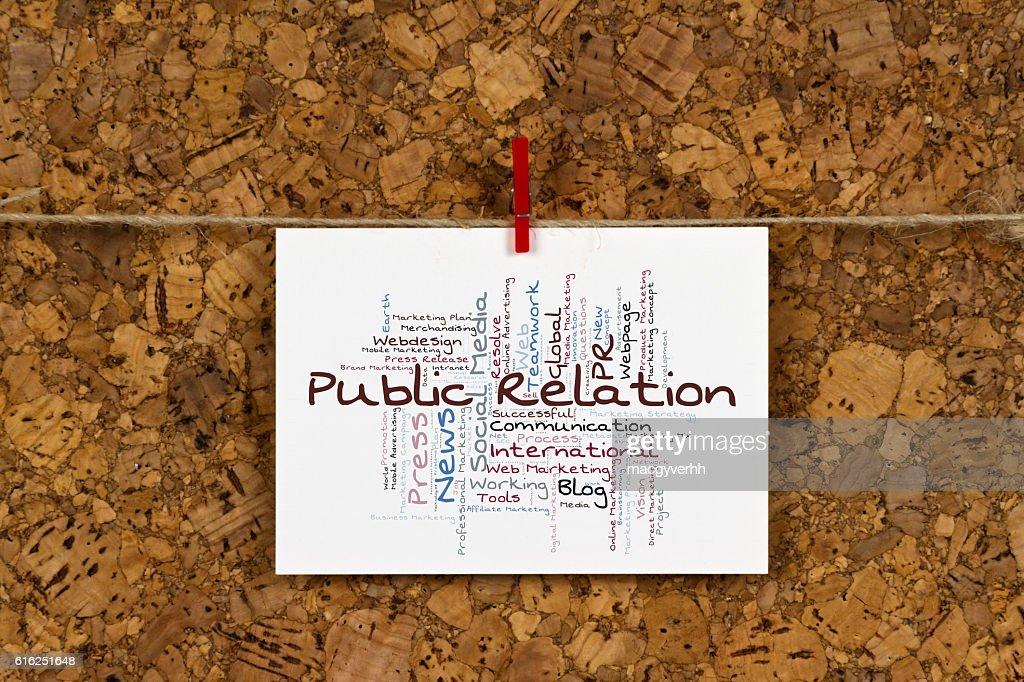 Public Relation word cloud : Stock Photo