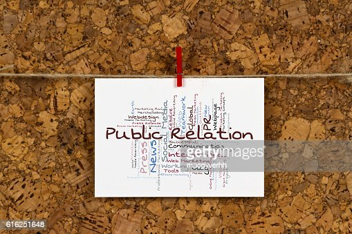 Public Relation word cloud : Stock Photo