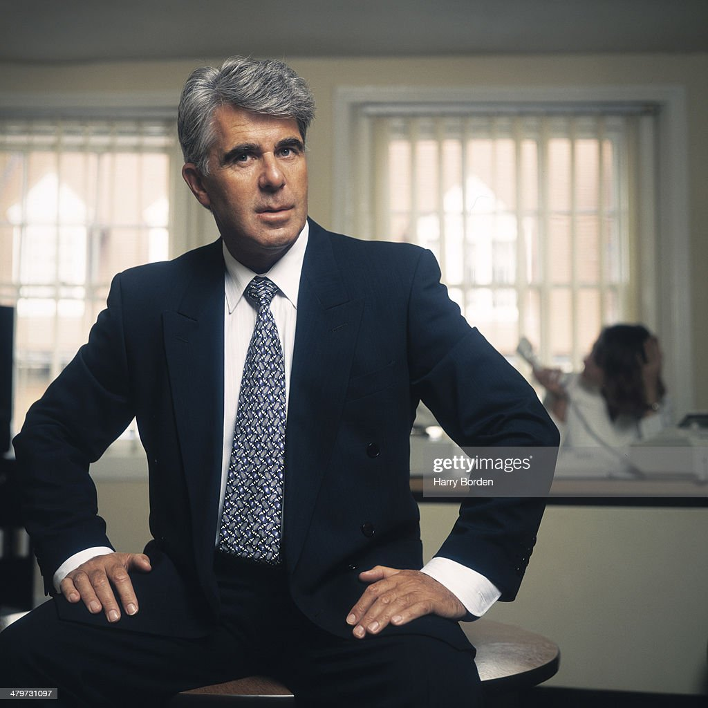 Public relations consultant <a gi-track='captionPersonalityLinkClicked' href=/galleries/search?phrase=Max+Clifford&family=editorial&specificpeople=753579 ng-click='$event.stopPropagation()'>Max Clifford</a> is photographed for the Observer on August 30, 1994 in London, England.