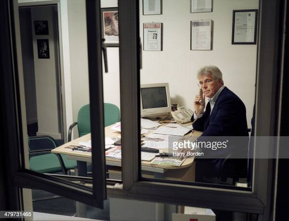 Public relations consultant Max Clifford is photographed for the Radio Times on February 12 2002 in WaltononThames England