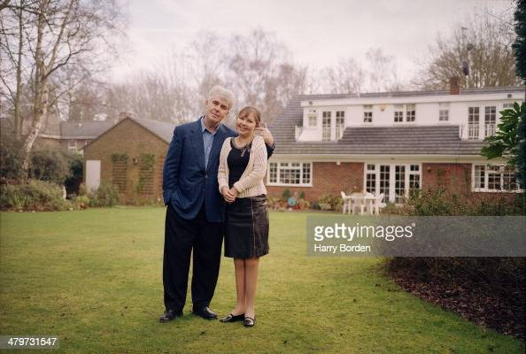 Public relations consultant Max Clifford is photographed with his daughter Louise for the Radio Times on February 12 2002 in WaltononThames England