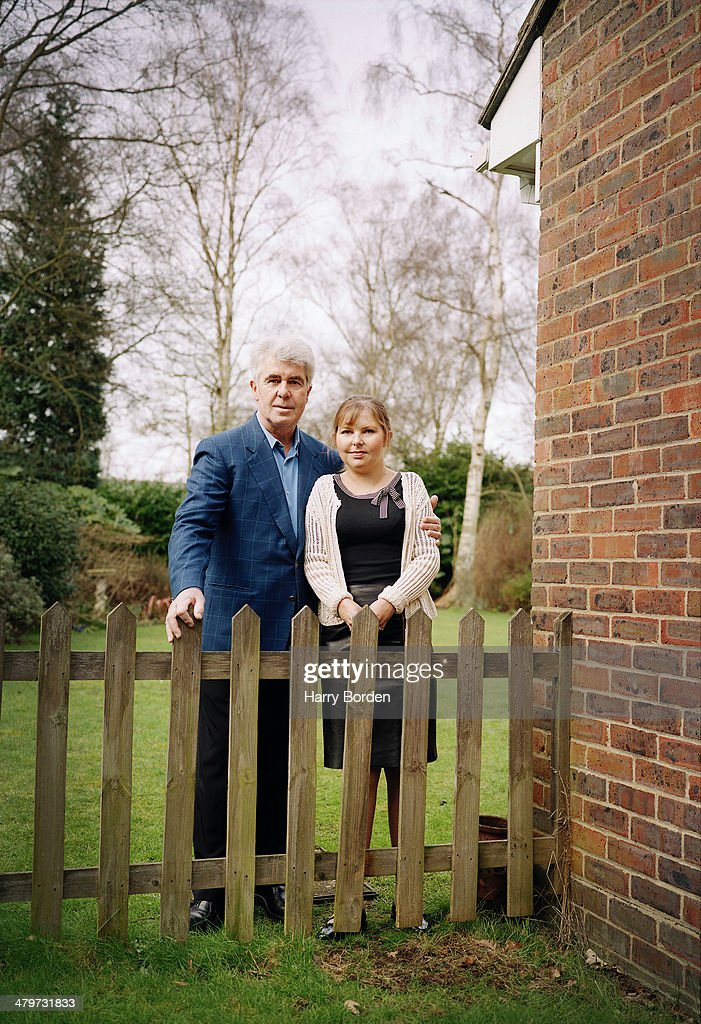 Public relations consultant <a gi-track='captionPersonalityLinkClicked' href=/galleries/search?phrase=Max+Clifford&family=editorial&specificpeople=753579 ng-click='$event.stopPropagation()'>Max Clifford</a> is photographed with his daughter Louise for the Radio Times on February 12, 2002 in Walton-on-Thames, England.