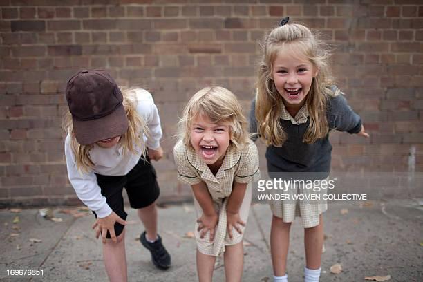 Public school children in playground