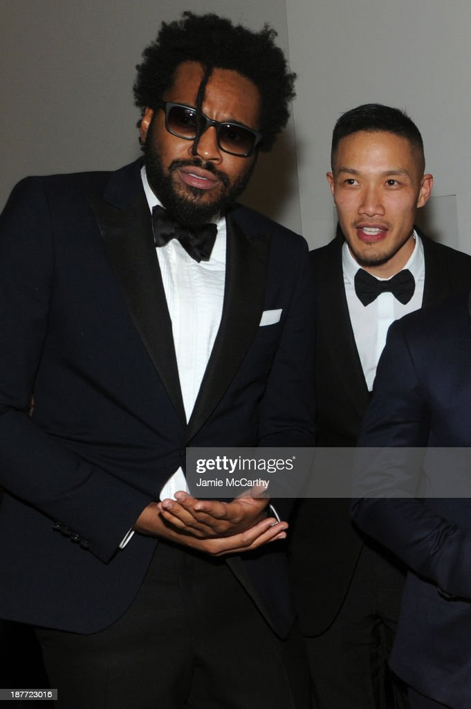 Public School's Maxwell Osborne and DaoYi Chow attend CFDA and Vogue 2013 Fashion Fund Finalists Celebration at Spring Studios on November 11 2013 in...