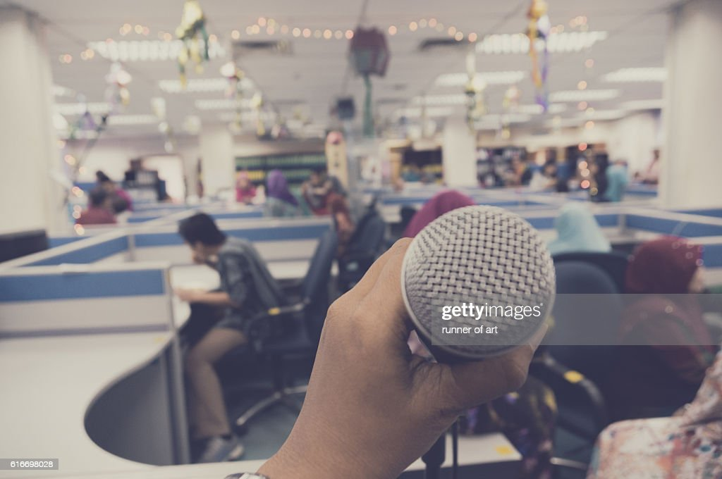 Public speaking : Stock Photo