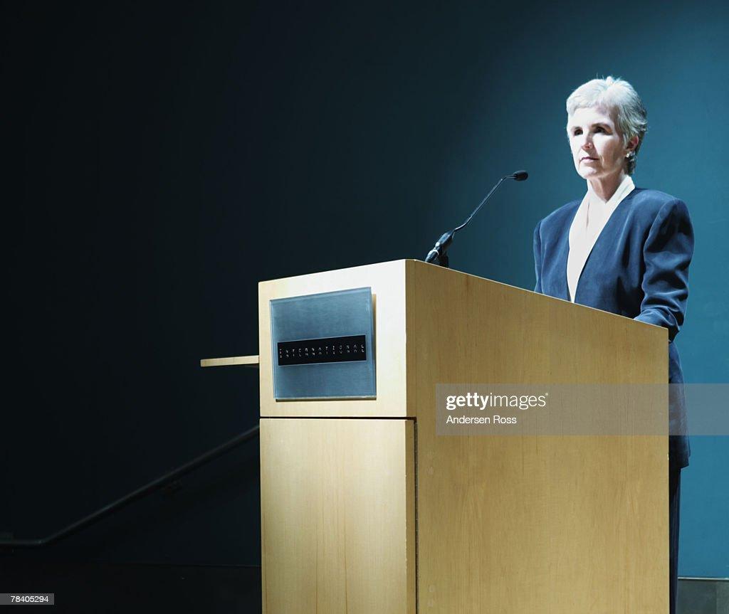Public speaking : Stock Photo
