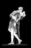 Public Statue of a Sailor Kissing a Nurse