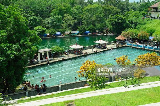 Public swimming pool in Lombok