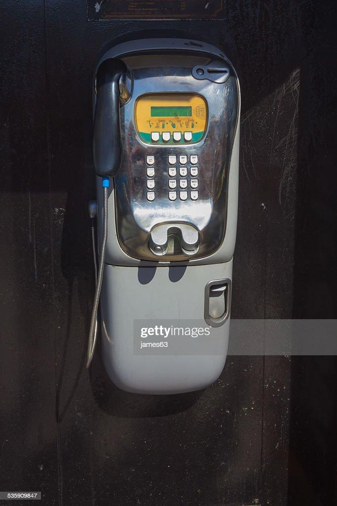 public telephone wall : Stock Photo