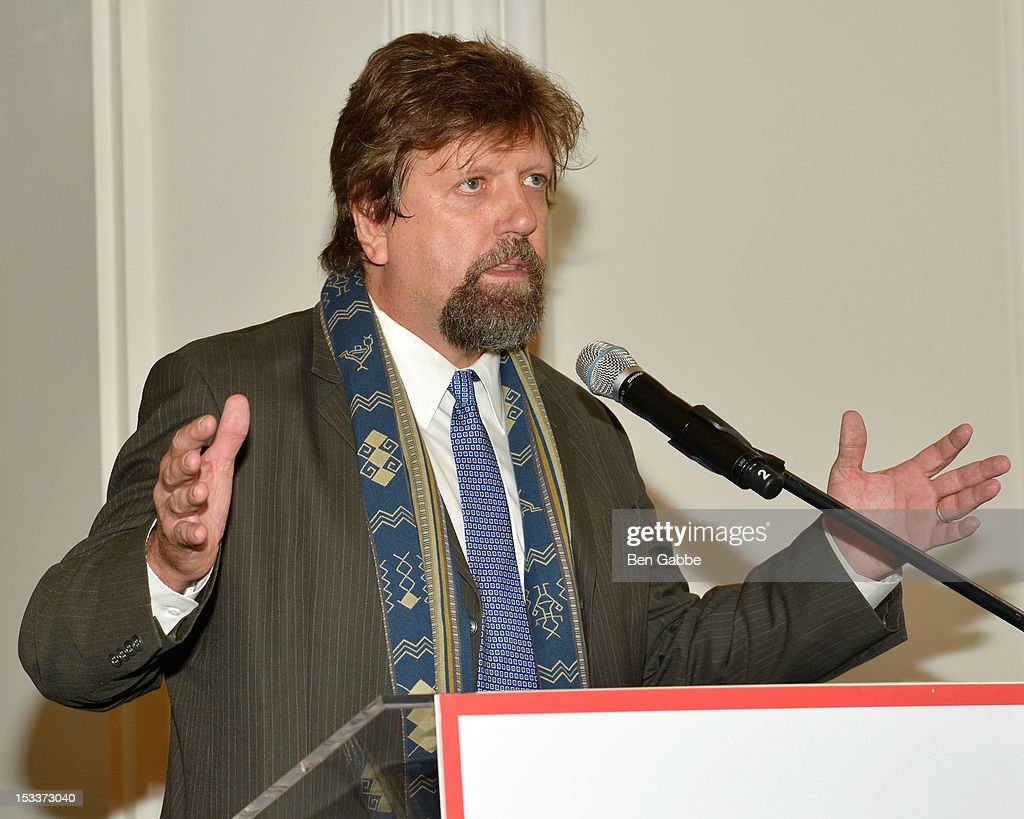 Public Theater Artistic Director <a gi-track='captionPersonalityLinkClicked' href=/galleries/search?phrase=Oskar+Eustis&family=editorial&specificpeople=559040 ng-click='$event.stopPropagation()'>Oskar Eustis</a> attends the Public Theater unveiling on October 4, 2012 in New York City.