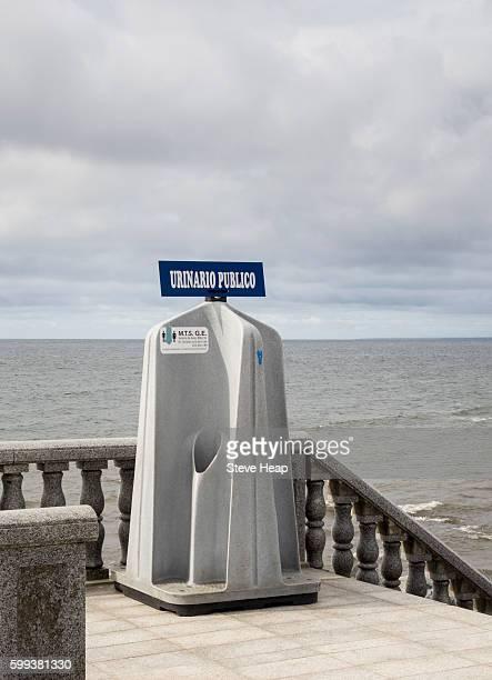 Public urinal for men and women on seafront promenade in Bata, Equatorial Guinea